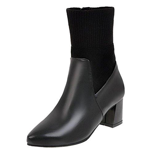 RAZAMAZA Women Boots Zipper Black voqNRab