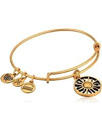 Women's Rising Sun Charm Bangle Bracelet, Rafaelian Gold, Expandable