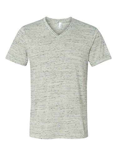 Bella + Canvas Unisex Jersey Short-Sleeve V-Neck T-Shirt, XL, WHITE MARBLE (Belle Jersey Baseball)