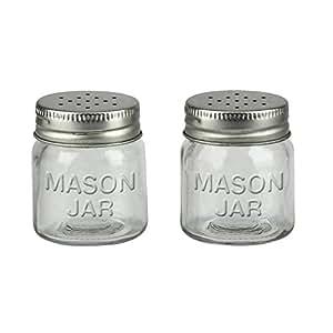 Mason Jar Salt and Pepper Shakers Set