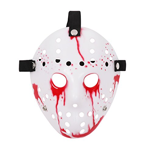 Freebily Halloween Costume Horror Hockey Mask Party Favors Cosplay Props for Masquerade Parties Carnival Christmas Easter (Type D) -