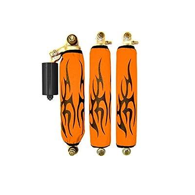 Orange Tribal Shock Covers POLARIS RAZOR Set of 4