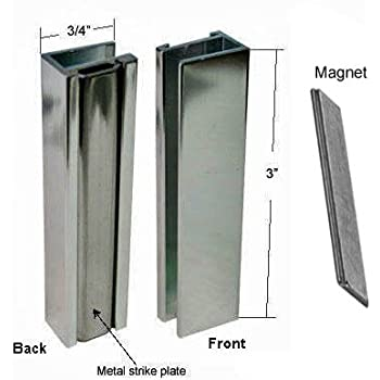 Brushed Nickel Shower Door U Channel With Metal Strike And