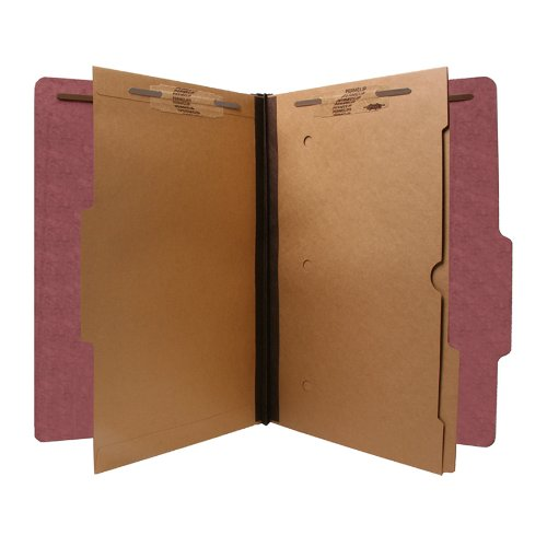 S J Paper S61447 S J Paper Expanding Pressboard Folder w/Pockets, Legal, 6-Section, Red
