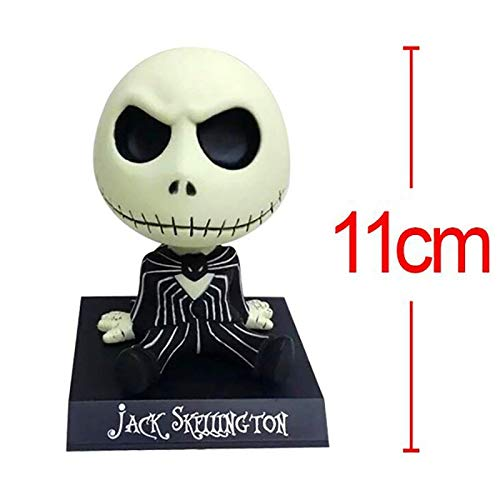 10cm (3.9 inch) The Nightmare Before Christmas PVC Figure / Jack Skellington Wacky Wobbler Bobble Head (B) ()
