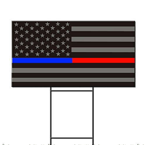 American Usa Flag Blue Red Police Firefighter Corrugated Pla