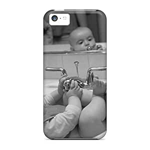 Iphone Cover Case - People Children Kid In The Kitchen Sink Protective Case Compatibel With Iphone 5c