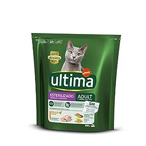 ultima Pienso para Gatos Esterilizados Adultos con Pollo y Cebada – 800 g