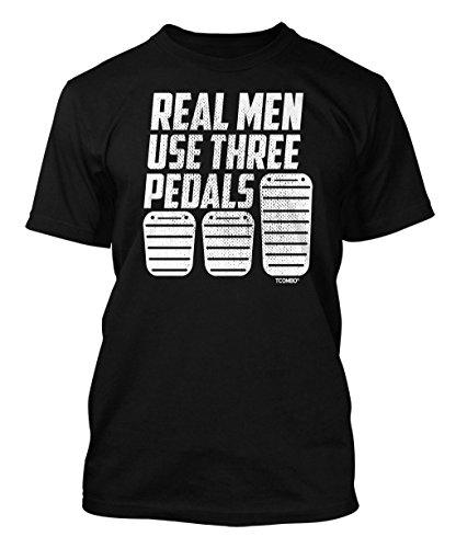 real-men-use-three-pedals-mens-t-shirt