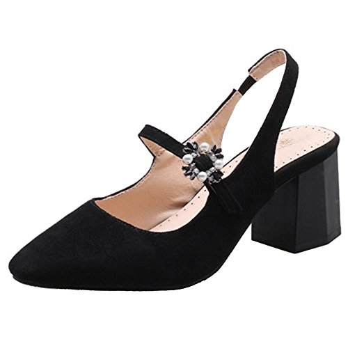Talons Coolcept Black Chunky Sandales Femmes 55rBH