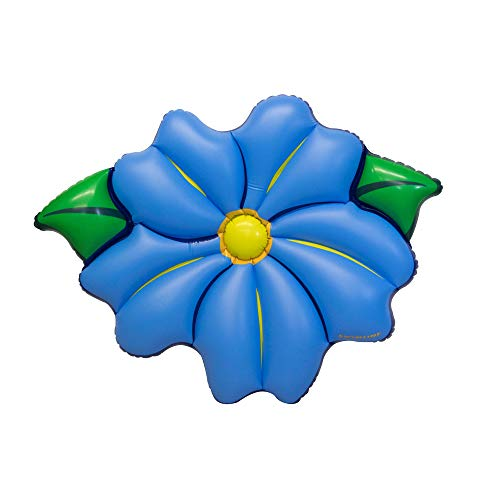 Swimline Inflatable PVC Primrose Flower Relaxation Pool Float, Blue -