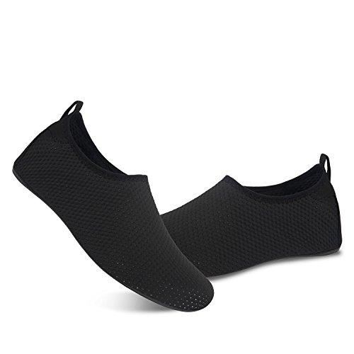Yoga Damen Leicht Badeschuhe für schwarz Schwimmen Herren Schuhe Aqua Strandschuhe Barfuß Rutschfeste Wassersport Kd qFgwUnTX