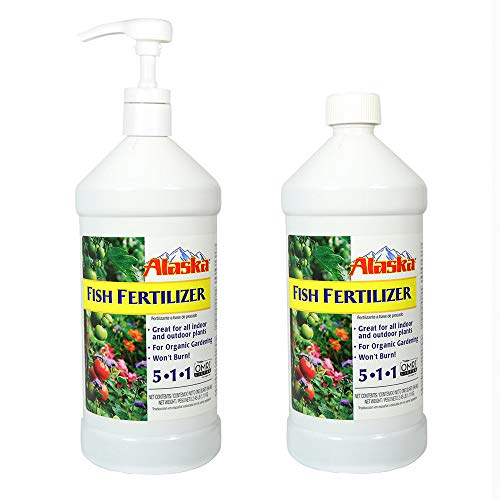 Alaska Fish Fertilizer- 32 oz - 2 Pack with - Liquid Fertilizer Organic