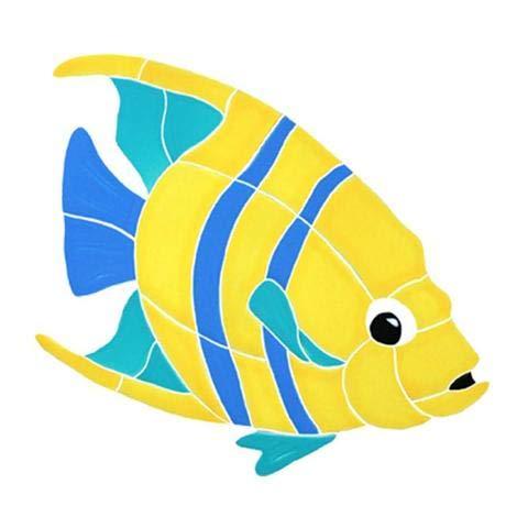 Artistry in Mosaics Banded Angel Fish Ceramic Swimming Pool Mosaic (9