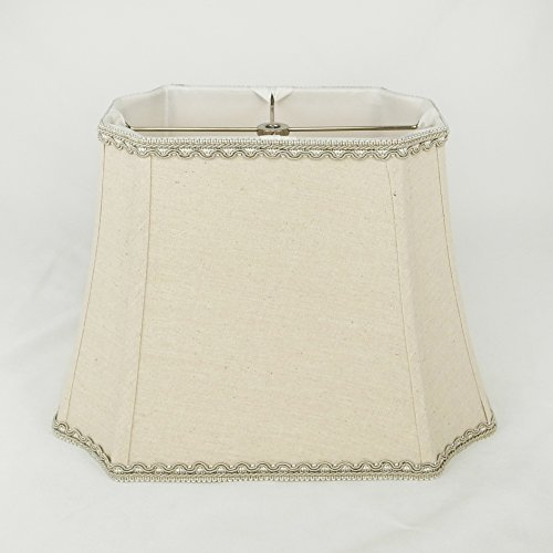 Linen Natural Rectangle Inverted Cut Corner Lampshade with M