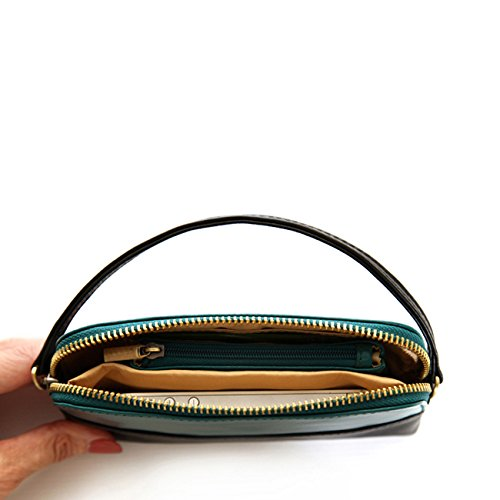 Jill-e Designs Osceola Leather Smartphone Clutch, Teal/Black (472069)