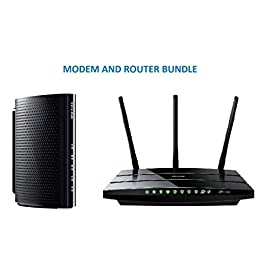 TP-Link DOCSIS 3.0 (8x4) High Speed Cable Modem (TC-7610) and TP-Link Archer C7 Wireless Dual Band Gigabit Router (AC1750) Bundle Kit - Comcast, TWC, Cox Cable, Brighthouse Compartible 4