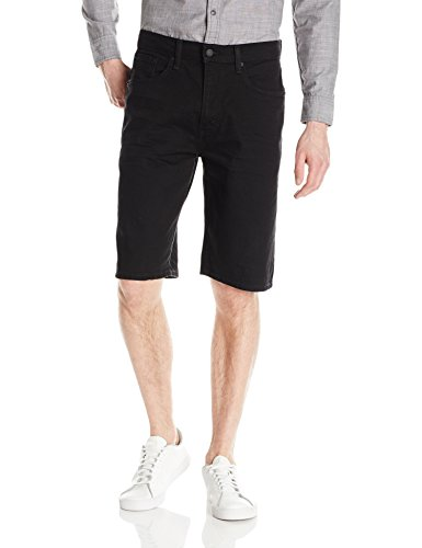 Levi's Men's 569 Loose Straight Denim Short, Black - Black Dye - Stretch, 38