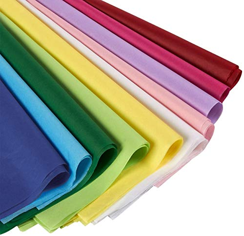 120 Sheets – Tissue Paper Gift Wrap in Bulk – Assorted Colors – Perfect for Gift Bags, DIY Crafts, Holidays, Christmas…