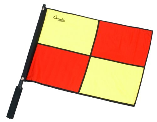 Champion Sports Official Checkered Flag with Border (Soccer Linesman Flags)