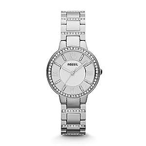 Fossil Women's ES3282 Virginia Analog Quartz Silver Watch