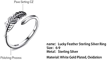 Feather Freedom 925 Serling Silver Ring Sterling Silver Ring Leaf Ring