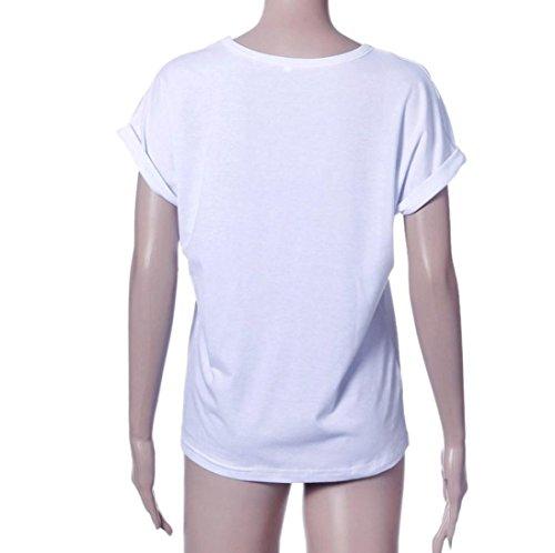shirt Divertenti Bianco Beautyjourney Shirt Casual Maglietta Donna Manica T Maniche Camicetta Maglia Estive Corte T Ragazza Vintage Estate Tumblr Magliette ppqUz8rw