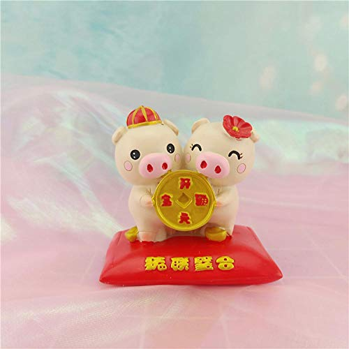 amazyn Resin Crafts Cake Decoration Cute Gold Coins car Decoration Resin@Section B