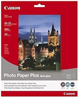 Canon 1686B018 - SG-201-20x25cm Photo Paper Plus, 20 Sheets Fotopapier (SG-201 8X10INCH 20SH)