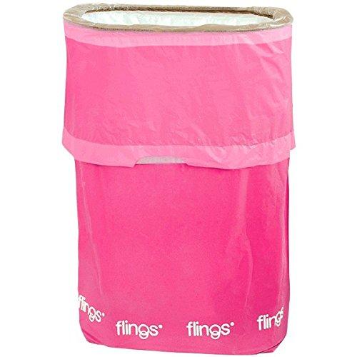 [Amscan Flings Bright Patented Pop-Up Trash Bin, 22 x 15 x 10