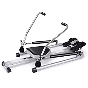 Well-Being-Matters 41EeYf9%2BMqL._SS300_ Goplus Hydraulic Rowing Machine Rower with LCD Monitor, Adjustable Resistance and Full Arm Extensions for Home Use, 250…