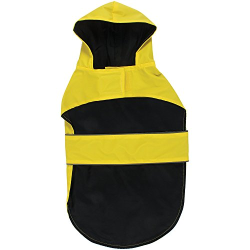 9055c0574038e Jelly Wellies 430658 Premium Quality Waterproof Reflective Classic Raincoat  for Dogs- Medium, Yellow