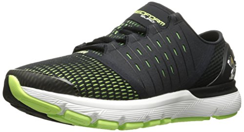 Under Armour Men's Speedform Europa-Wide (2E) Running Shoe, Black (003)/Quirky Lime, 11.5 US