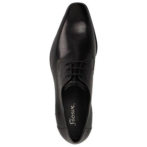 Sioux - Zapatos de cordones de Piel para hombre Negro negro