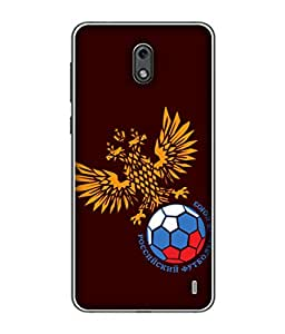 ColorKing Football Russia 19 Red shell case cover for Nokia 2