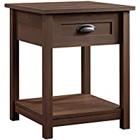 Sauder County Line Night Stand with Rum Walnut Finish