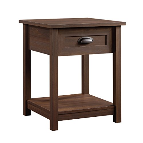 Sauder County Line Night Stand, Rum Walnut Finish by Sauder