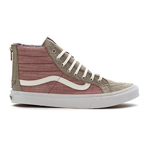Vans Womens Vavn0xh8ie0-6.0 Tessuto Hight Top Lace Up Moda Sneakers Grigio