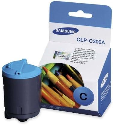 Samsung Part# CLP-C300A Cyan OEM Toner Cartridge 1,000 Pages