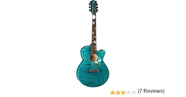 Luna Guitars FLORA MOONFLOWER - Guitarra electroacústica: Amazon ...