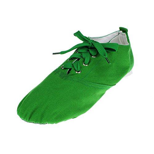 Kvinnas Canvas Låg Klack Balettdans Sneaker Grönt