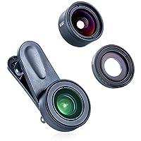 Phone Camera Lens Kits,LENSFIKASE 3 in 1 Clip-On Lens...