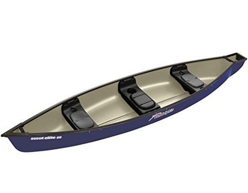 Elite Backed Bench Green - Sun Dolphin Scout Elite SS Canoe (Navy, 14-Feet)