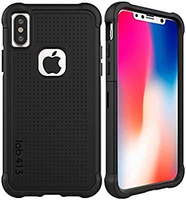 newest d3ca9 ddfc2 lab413 iPhone X & XS Tough Jacket Case Rugged Drop Protection (Does ...