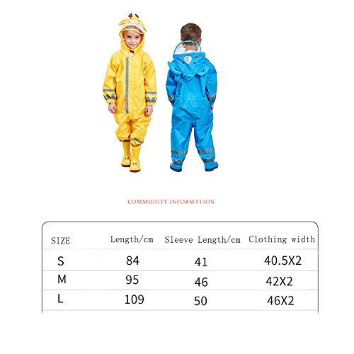 FQM Ropas Impermeables De Lindo, Una Pieza, Impermeable, Lindo, De Luz, con Capucha, Poncho, Tira Reflectante (Color : Amarillo, Tamaño : Metro) 1e1e68