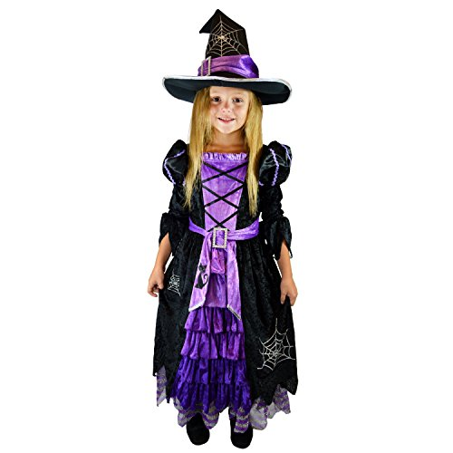 Spooktacular Creations Fairytale Witch Cute Witch Costume Deluxe Set for Girls (T 3-4)