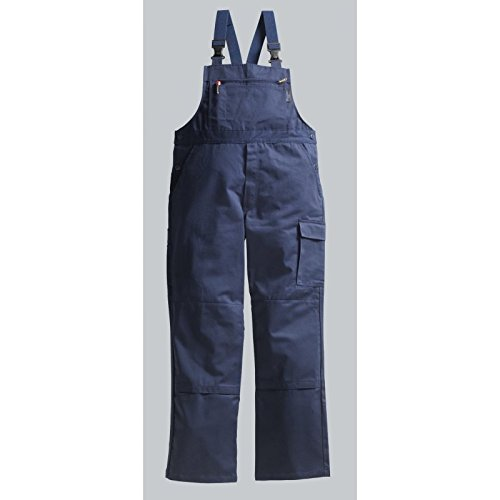 PIONIER WORKWEAR Herren Latzhose Cotton Pure in marineblau (Art.-Nr. 9491) marine,Größe 46
