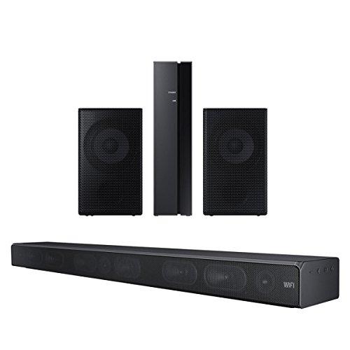 Samsung HW-MS650 3 Channel Sound+ Premium Soundbar with SWA-9000S Rear Wireless Speaker Kit (Black)