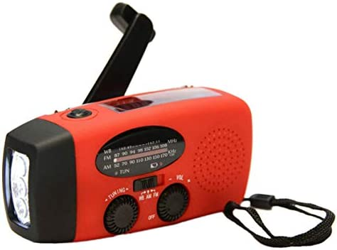 Protable緊急ハンドクランクジェネレーターAM/FM/WBラジオ懐中電灯充電器防水緊急サバイバルツールHY-88WB赤