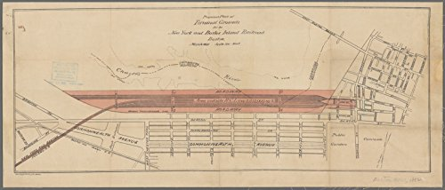 Map Poster - Proposed plan of terminal grounds for the New York and Boston Inland Railroad, Boston 18